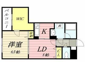 パルテールIWASAKI・0106号室の間取り