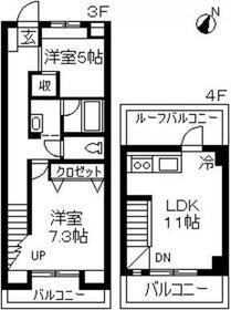 ラ・フォーレ大倉山弐番館・303号室の間取り