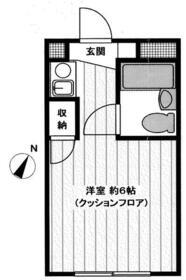 ヘリオス87田無・103号室の間取り