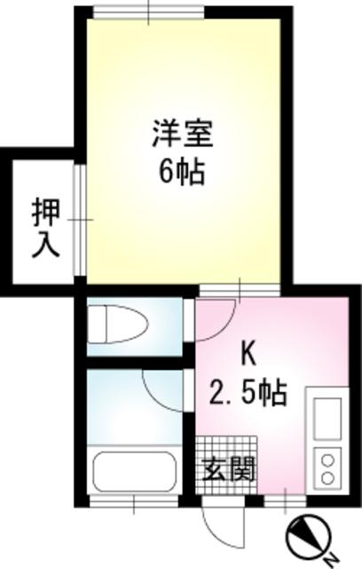 ヴァンベール鎌倉・102号室の間取り