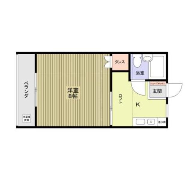 高松コーポラスC棟・312号室の間取り