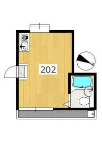 エステー生田2・202号室の間取り