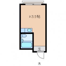 第7西山ビル・304号室の間取り
