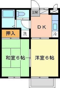 ディアコート六浦・202号室の間取り