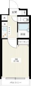 RISE AKATSUKA(ライズ赤塚)・302号室の間取り