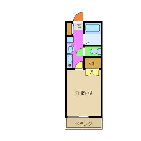 ヴェルディ-富士見・105号室の間取り