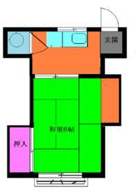 中村アパート・202号室の間取り