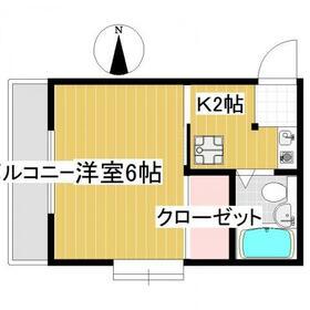 マイハウスⅡ・203号室の間取り