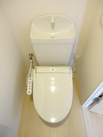 Louange 206号室のトイレ