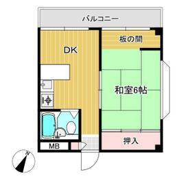 土屋マンション・8号室の間取り
