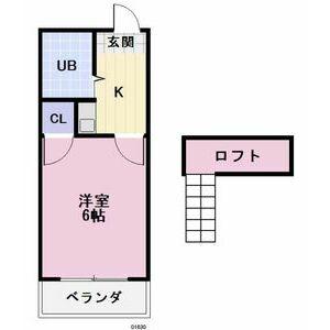 タウニィ江南・105号室の間取り