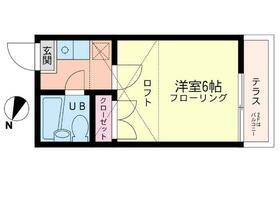 ヒルサイド北寺尾・201号室の間取り