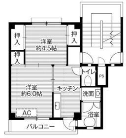 ビレッジハウス東郷2号棟・0405号室の間取り