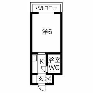プレアール上新庄Ⅱ・201号室の間取り