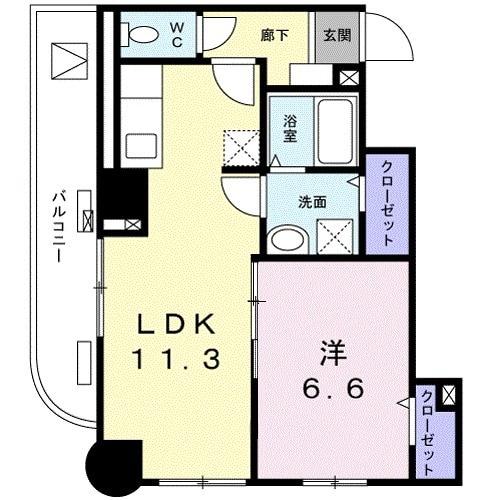 菊水レジデンス綱島Ⅱ・04030号室の間取り