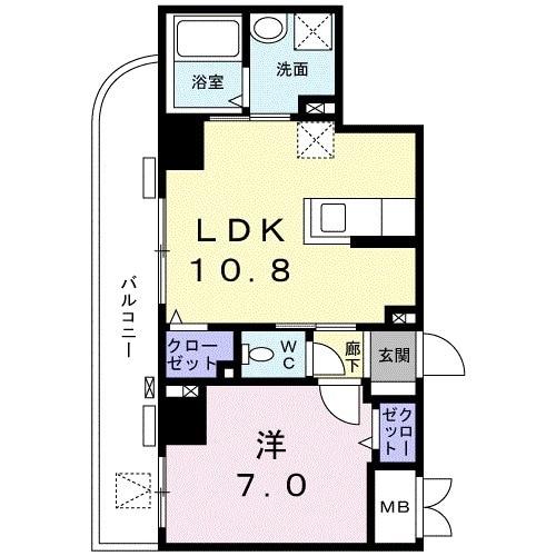 菊水レジデンス綱島Ⅱ・05040号室の間取り