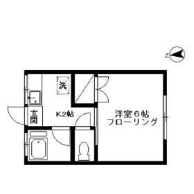 ハウスU・102号室の間取り