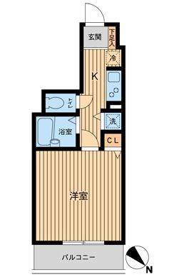 HF東神田レジデンス・1002号室の間取り