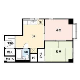 メゾンヤマムロ・0301号室の間取り