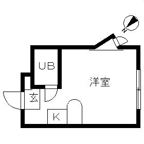 ベルピア・鶴ケ峰第2・201号室の間取り
