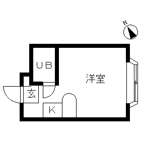 ベルピア・鶴ケ峰第2・203号室の間取り
