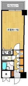 福吉リゾートエクセル55・705号室の間取り