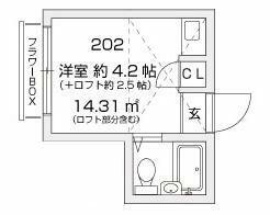 梶ヶ谷スチューデントパレスA・202号室の間取り