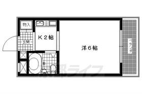 コーポ御塔道・203号室の間取り