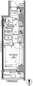 プレール・ドゥーク新宿下落合・702号室の間取り