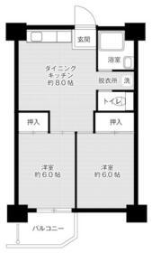 ビレッジハウス泉北栂タワー・1322号室の間取り