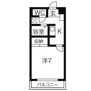 プロミネント弥富駅前・40B号室の間取り