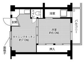 ビレッジハウス磯山2号棟・0305号室の間取り
