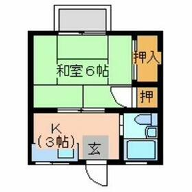 ハイツヤマザキ・203号室の間取り
