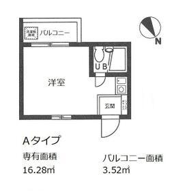 パレ・ドール稲田堤Ⅲ・301号室の間取り