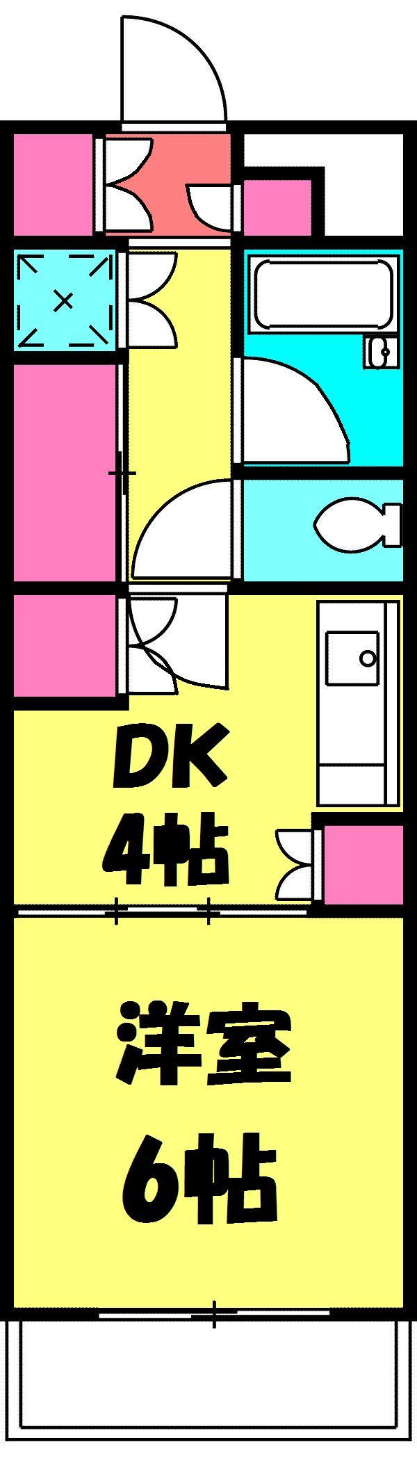 メゾンベルセーヌ・213号室の間取り