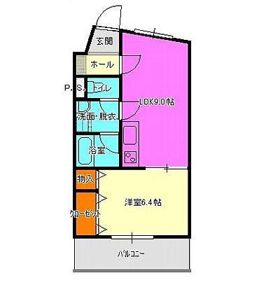 京屋ハイツⅠ・103号室の間取り