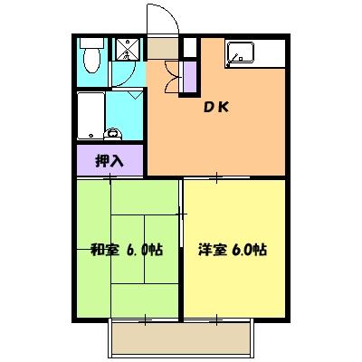 第3エステートISHII・105号室の間取り
