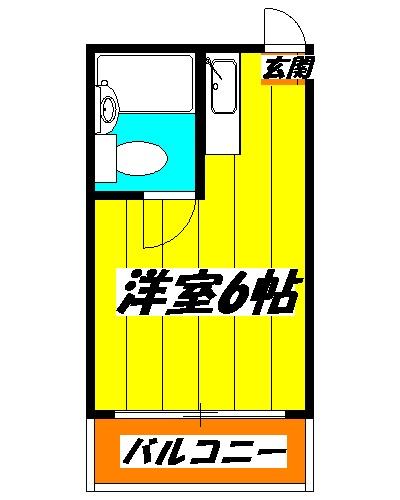 千代田カレッジビラ・105号室の間取り
