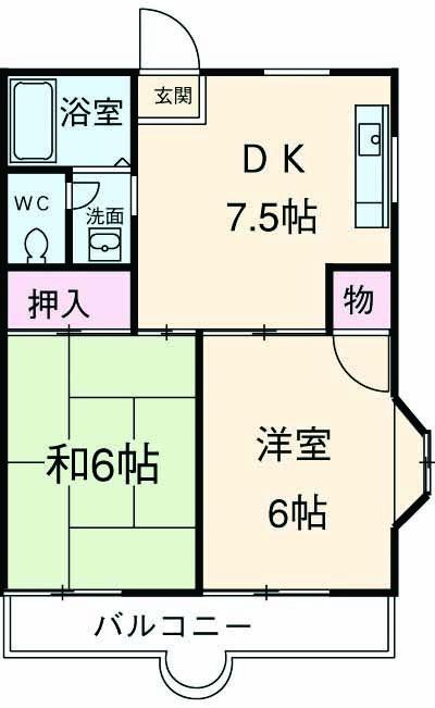 けやきマンションⅡ・00101号室の間取り