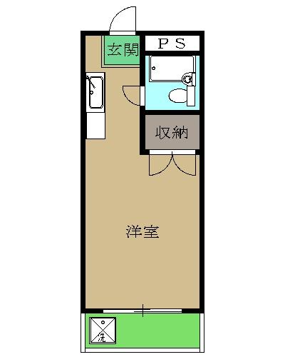 石井マンションピーコック・225号室の間取り
