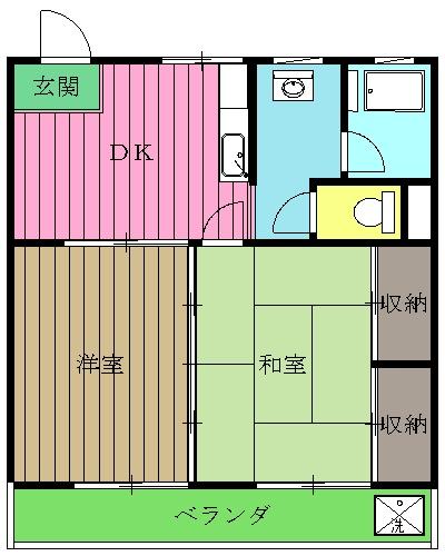 田中マンション・303号室の間取り