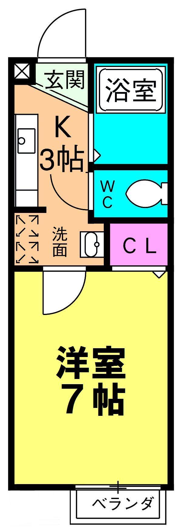CENTRAGE松戸・102号室の間取り