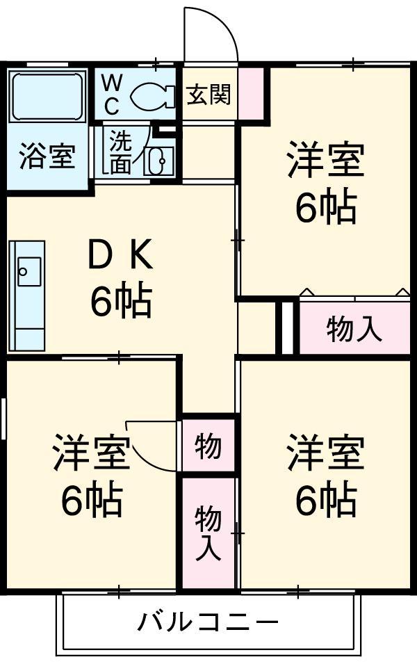 メゾンド・ナカハラ・103号室の間取り