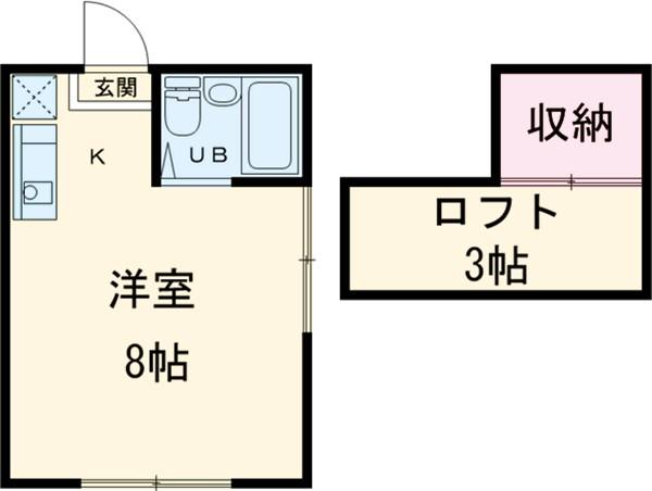 スカイハイツ東元町・102号室の間取り