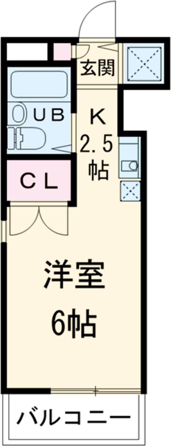 CORE K・2B号室の間取り
