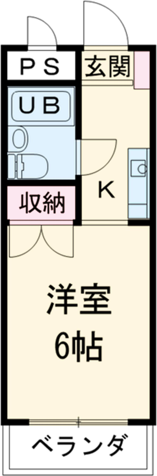 リバーサイド三田Ⅱ・122号室の間取り