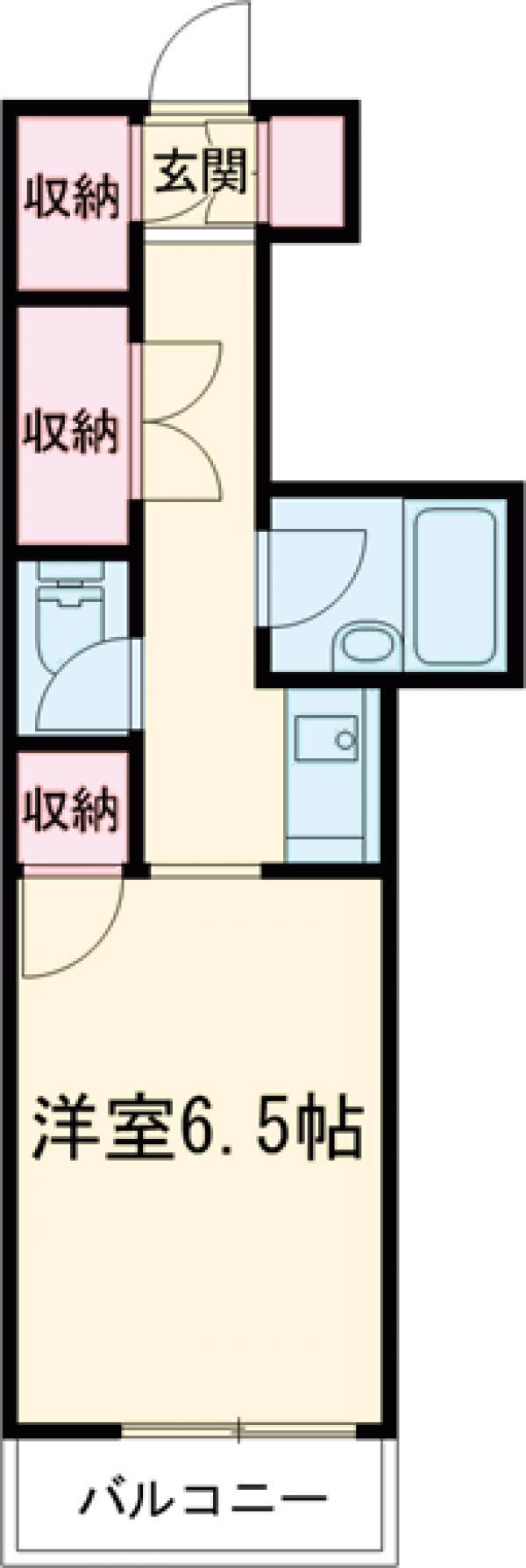 エトワール宇都宮第1・703号室の間取り