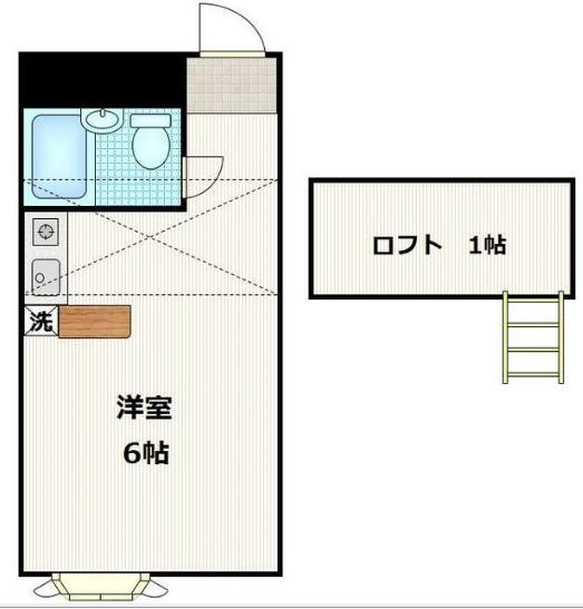 ベルピア江戸川台第7 203号室の間取り