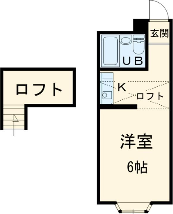ベルピア六実第1-2・104号室の間取り