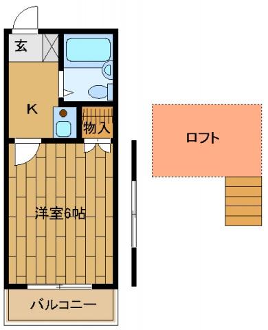ルナハイムⅠ・201号室の間取り